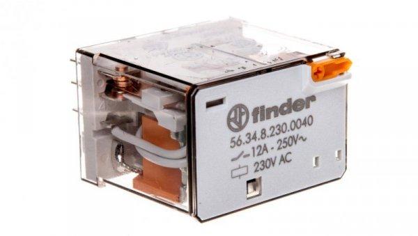 Przekaźnik 4P 12A 230V AC przycisk testujący, mechaniczny wskaźnik zadziałania 56.34.8.230.0040