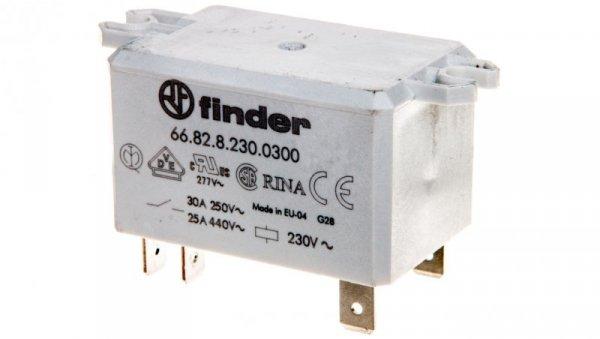 Przekaźnik 2Z 30A 230V AC na panel, Faston 250 66.82.8.230.0300