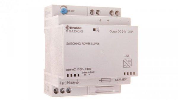 Zasilacz impulsowy modułowy 60W 24V DC 110-240V AC 78.60.1.230.2403