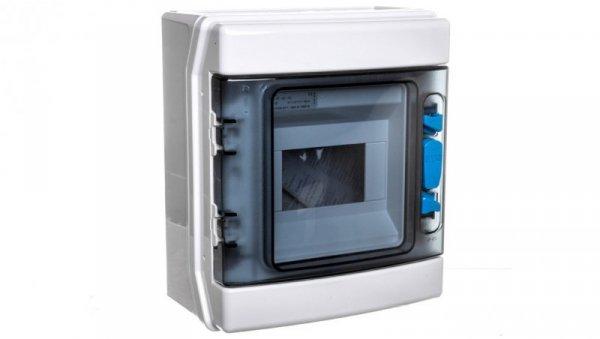 Szafka modułowa 1x6 natynkowa odporność UV IP65 IKA-1/6-ST-UV 174188