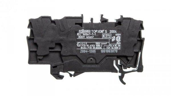 Złączka szynowa 3-przewodowa 4mm2 czarna TOPJOBS 2004-1305