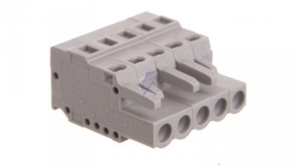 Gniazdo MCS-MIDI Classic 5-biegunowe szare raster 5mm 231-105/102-000  /100szt./