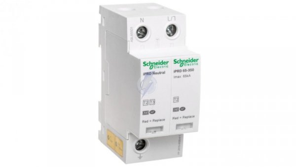 Ogranicznik przepięć C Typ 2 1P+N 65kA 1,4kV 350V iPRD-65r-65kA-350V-1PN A9L65501
