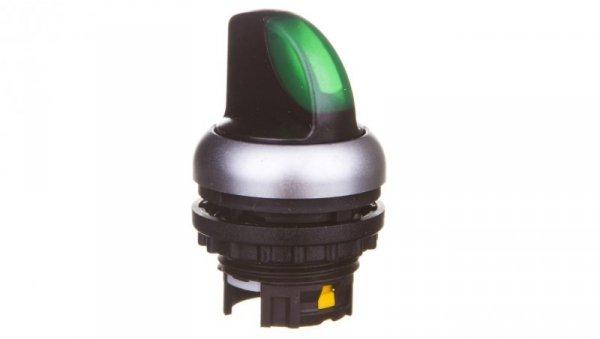 Napęd przełącznika 2 położeniowy zielony z podświetleniem z samopowrotem M22-WLK-G 216816