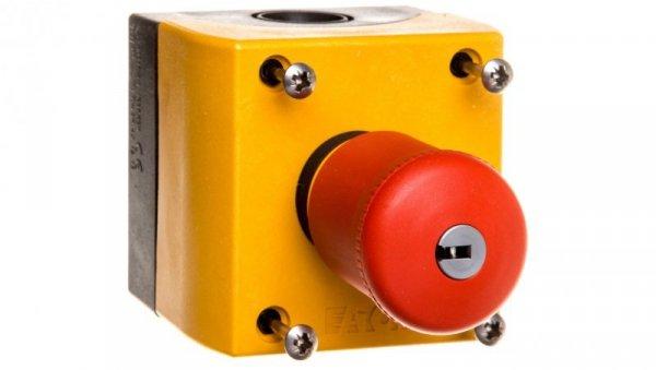 Kaseta z przyciskiem bezpieczeństwa z kluczem 1Z 1R IP66 M22-PVS/KC11/IY 216523