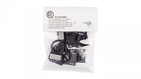 Szyld opisowy na przycisk 22mm czarny W0-TI-22 (10szt.)