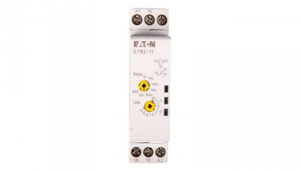 Przekaźnik czasowy 1P 3A 0,05sek-100h 24–240V AC, 24–48V DC opoźnione załączenie ETR2-11 262684