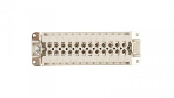 Wkład złącza 24P+PE żeński 16A 500V EPIC H-BE 24 BS 10197000