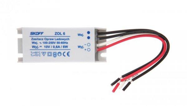 Zasilacz LED 10V ZOL 6/10V-6W 02-03-01-01-0005