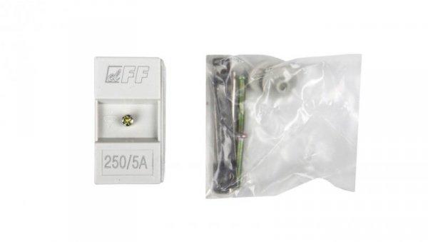 Przekładnik prądowy na kabel i szynę fi22+30/25/20x10mm TI-250-5