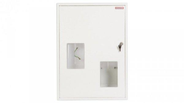 Szafka licznikowa natynkowa/podtynkowa (uniwersalna) 2-licznikowa 1 i 3-fazowy 27 modułów IP30 RU-2L-P-27 Z/O