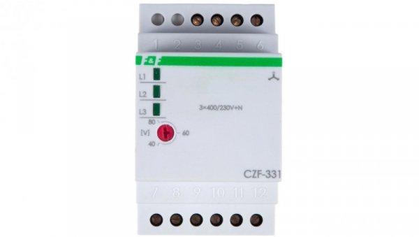 Przekaźnik zaniku i asymetrii faz 8A 2P 4sek 40-80V CZF-331