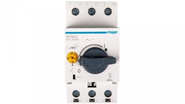 Wyłącznik silnikowy 3P 0,18kW 0,4-0,63A MM504N
