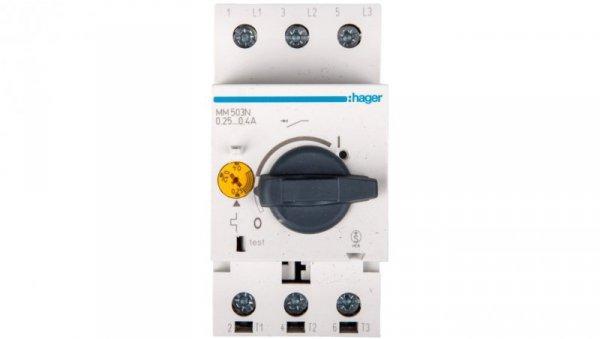 Wyłącznik silnikowy 3P 0,09kW 0,24-0,4A MM503N