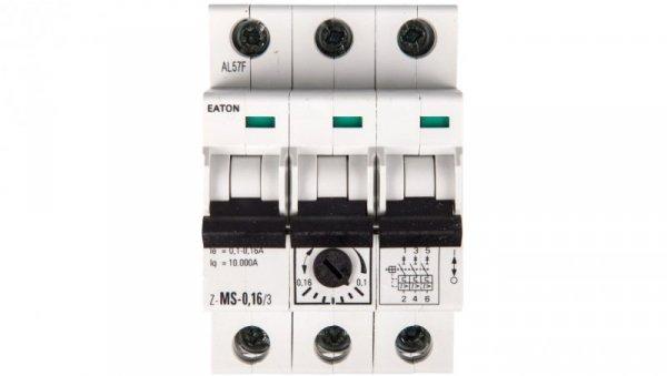 Wyłącznik silnikowy 3P 0,06kW 0,1-0,16A Z-MS-0,16/3 248402