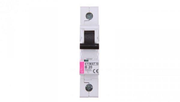 Wyłącznik nadprądowy 1P B 20A 10kA AC ETIMAT10 002121717