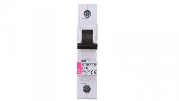 Wyłącznik nadprądowy 1P C 6A 10kA AC ETIMAT10 002131712