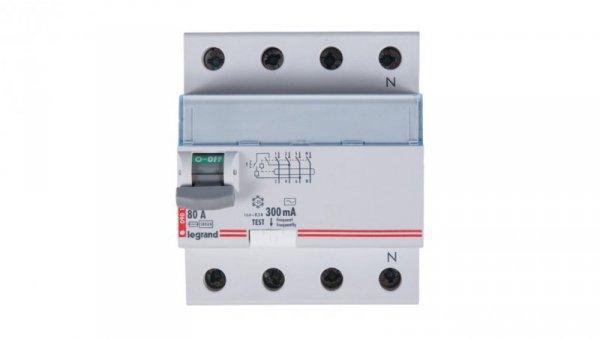 Wyłącznik różnicowoprądowy 4P 80A 0,3A typ AC P304 DX3 411725