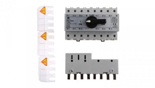 Przełącznik sieć-agregat 63A 3P+N (biegun N nierozłączalny) PRZK-3063NW02