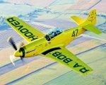 P-51D Mustang Yellow KIT - Samolot elektryczny FlyFly Hobby