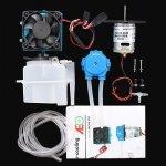 Duży system chłodzenia wodnego (radiator, zbiornik, pompa, wiatrak, przewody, zestaw śrub)