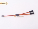 Kabel Y rozgałęziacz do lotek  15 cm - 20 cm (JR)