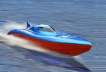 Balaenoptera Musculus Electric Powered Racing Boat