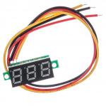 Miernik woltomierz 0-100V - 0,28 z przewodami