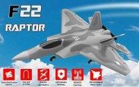 SAMOLOT F22 RAPTOR z systemem stabilizacji One Key Aerobatic Idealny dla początkujących RTF