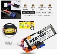 Dualsky RXB 1800mAh 20C/2C 11.1V Voltage Meter