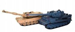 Zestaw wzajemnie walczących czołgów M1A2 Abrams v2 i German Tiger v2 2.4GHz 1:28 RTR