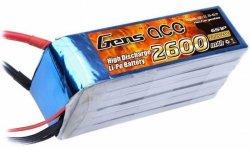 2600mAh 22.2V 25C Gens Ace