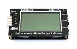CellDiag 6 Dokładny miernik napięcia Li-Ion Li-Po 1-6S