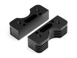 CNC Engine Cooling Mount Set Trophy Series (Black)