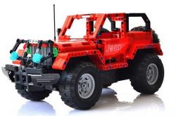 Jeep Wrangler - do zbudowania z klocków - ZDALNIE STEROWANY
