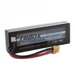 PROMOCJA! Redox 8000 mAh 7,4V 70C Hardcase - pakiet LiPo
