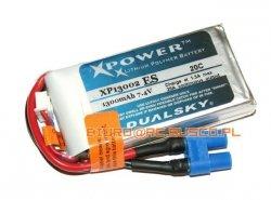 Akumulator Dualsky 1300 mAh 20C 2S1P 7.4V