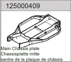 Center chassis plate long 2WD