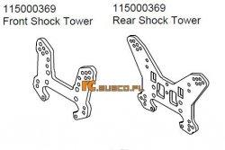 Front & rear shock tower Ansmann Terrier