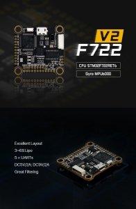 FOXEER F722 V2 FPV Flight Controller