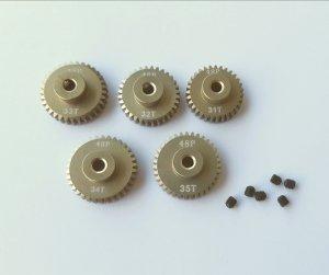 Zębatki koła zębate do aut rc 31/32/33/34/35 T mod.48p aluminium pinion gear 5 szt.