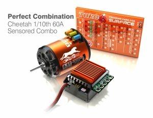 Zestaw napędowy SkyRC Cheetah1/10 +regulator ESC 60A +silnik 10.5T