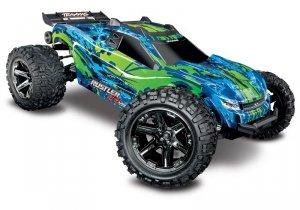 1/10 RUSTLER 4X4 VXL TSM - wersja zielona BEZSZCZOTKOWY 4WD 4x4