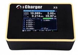 Zaawansowana Ładowarka Procesorowa iCharger X8 1100W 30A LiPo 8S