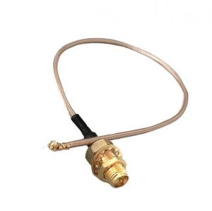 Przejście - U.FL (IPEX) na RP-SMA jack - adapter prosty z przewodem 200mm