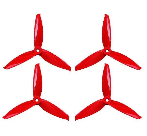 Śmigła Gemfan Durable 5152-3 (2xCW + 2xCCW) do dronów wyścigowych różne kolory / ferrari red / ocean blue / whisky yellow / pink