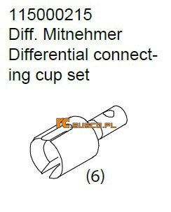 Differential connecting cup set - Ansmann Virus
