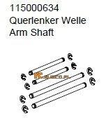 Arm shaft set - Ansmann Virus