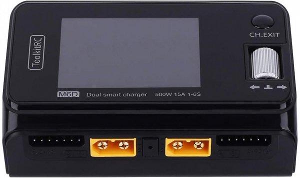 Zaawansowana Ładowarka procesorowa Toolkitrc M6D DUAL PORT 15A 500W 1-6S  dwa porty ładowania