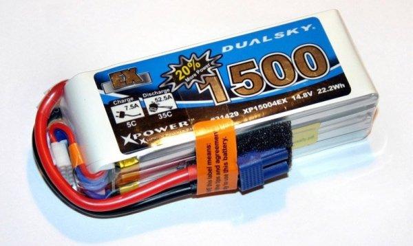 Akumulator Li-Po Dualsky 1500 mAh 35C/5C 14.8V